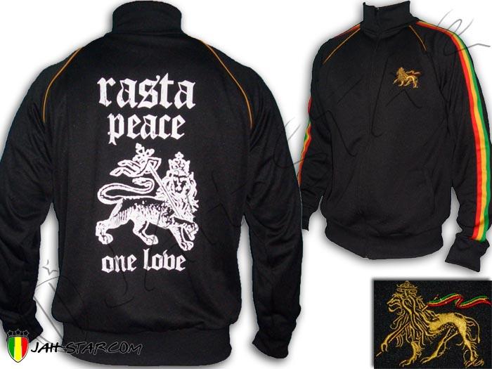 Jacket Jacke Jah Star Rasta Reggae Peace & Love Lion Judah ...