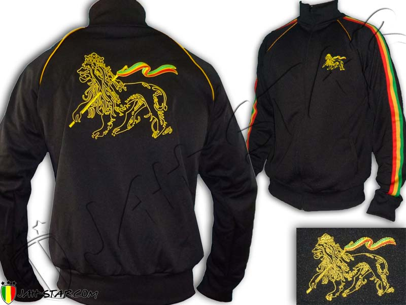Veste Rasta Reggae Roots Lion of Judah Brodé au dos
