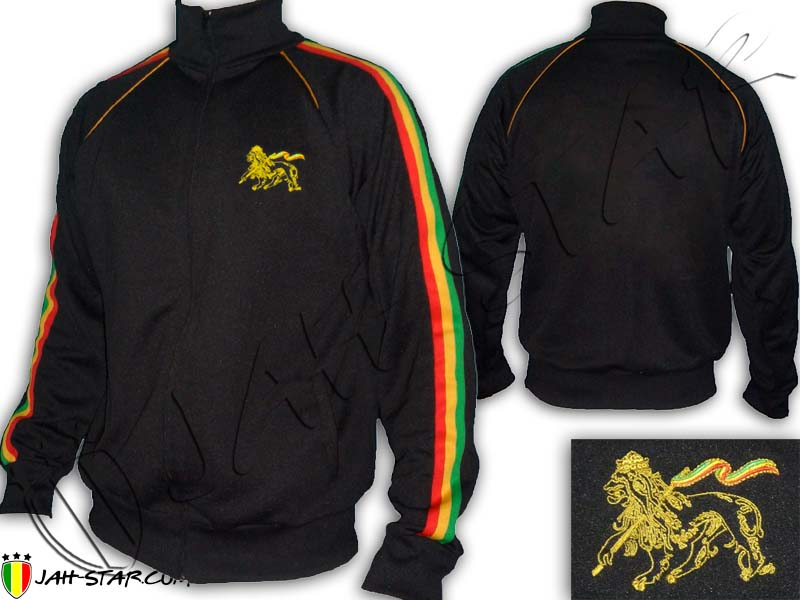 Jacket Rasta Reggae Roots Lion of Judah Embroidered Jah Star