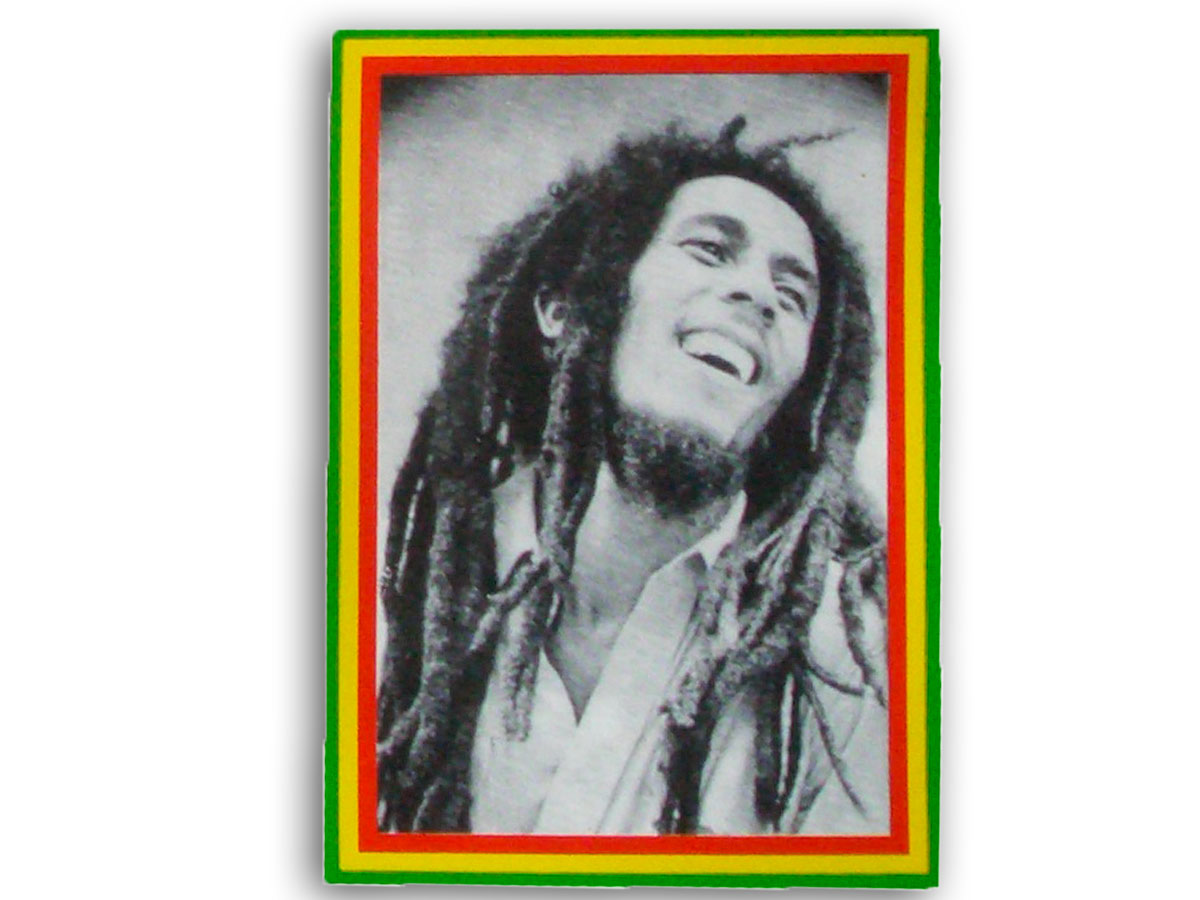 Sticker Rasta Jamaica Bob Marley Portrait Black & White