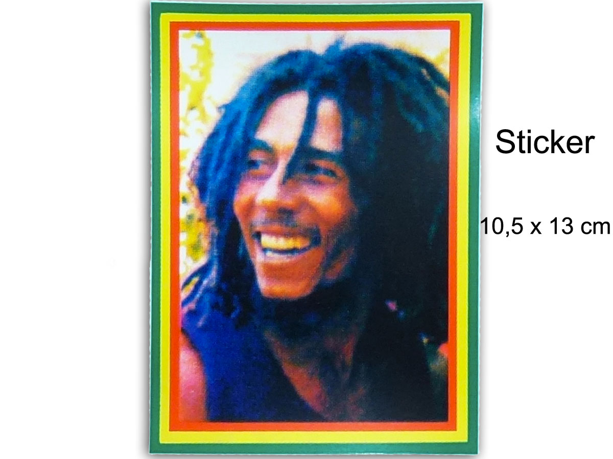 Sticker Rasta Bob Marley Portrait