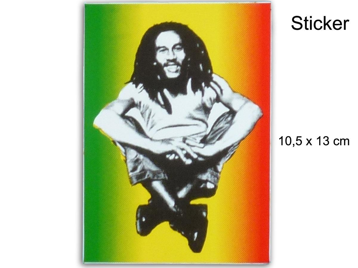 Autocollant sticker rasta jamaica bob marley