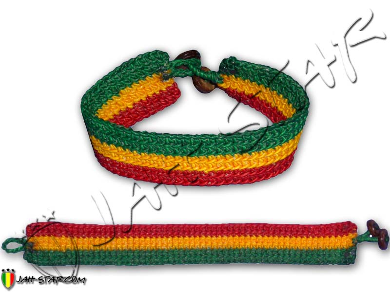 Wax Cotton Bracelet Rasta Reggae Roots Hippie
