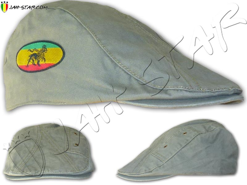 Cap Hatteras Rasta Reggae Lion Of Judah Grey