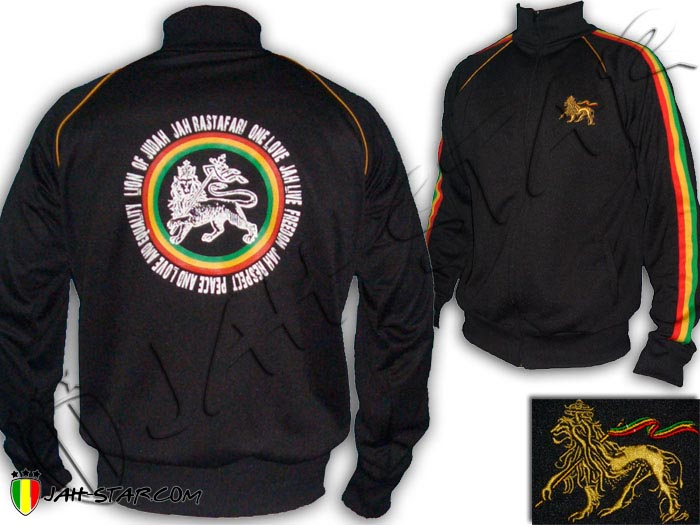 Jacket Rasta Roots Reggae Jah Live Lion Of Judah One Love