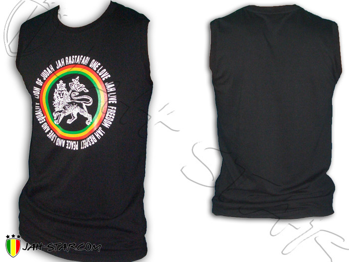 Sleeveless Tanktop Rasta Roots Reggae Jah Live Lion Of Judah One Love