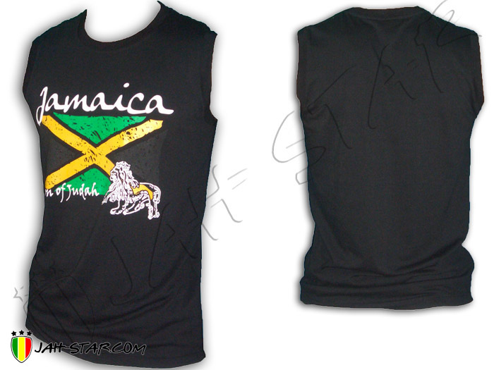 Sleeveless Rasta Reggae Rock Lion Jamaica Flag