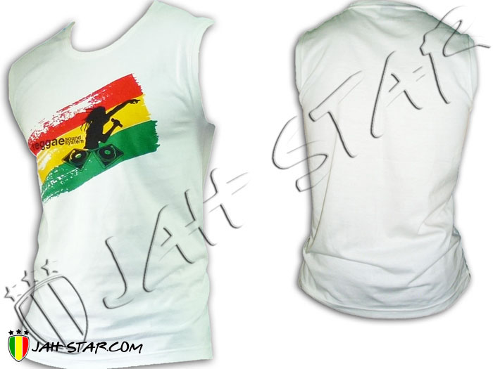 Sleeveless Rasta Reggae Roots DJ Sound System Jamaican
