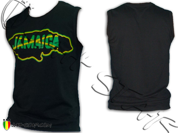 Sleeveless Rasta Reggae Bob Marley Jamaica Map