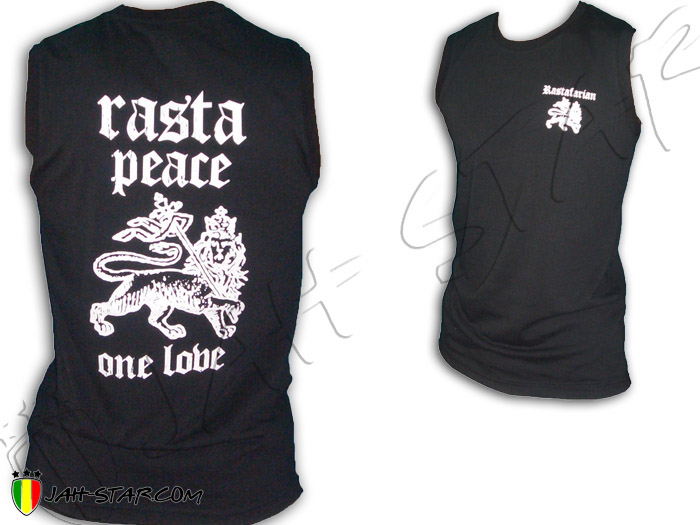 Sleeveless Rasta Reggae Peace & Love One Love Jah Live