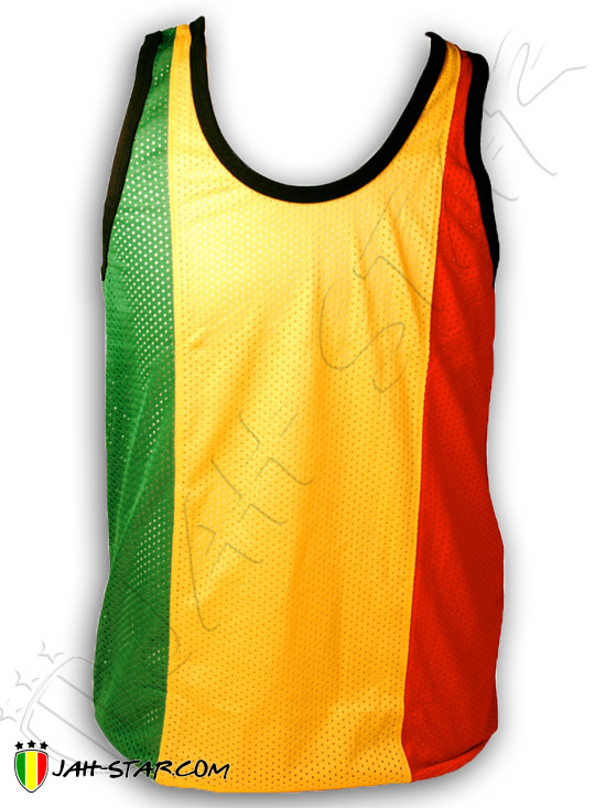 Rasta Reggae Mesh Tank Top Sleeveless