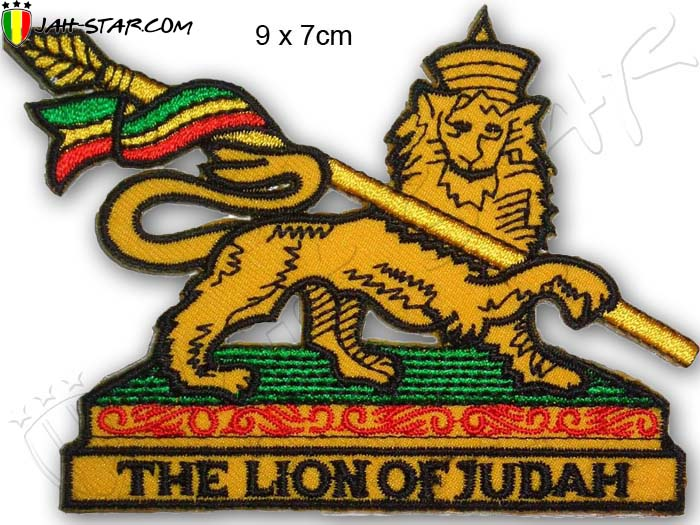 Iron on Patch Rasta Reggae Roots Conquering Lion Of Judah