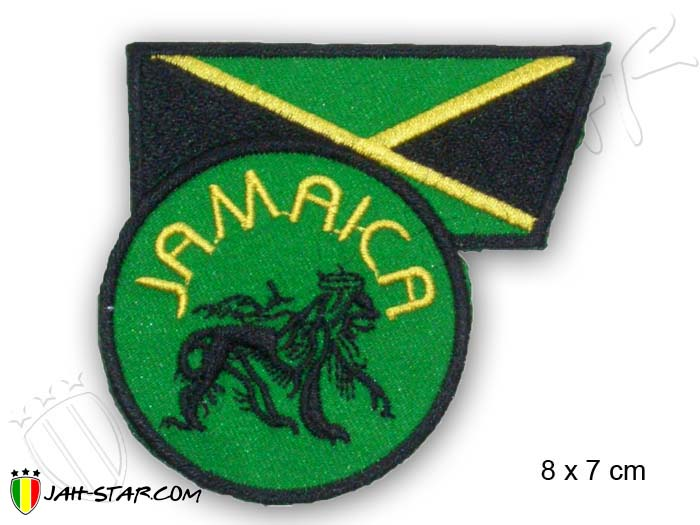 Iron on Patches Rasta Reggae Roots Jamaica Lion Of Judah