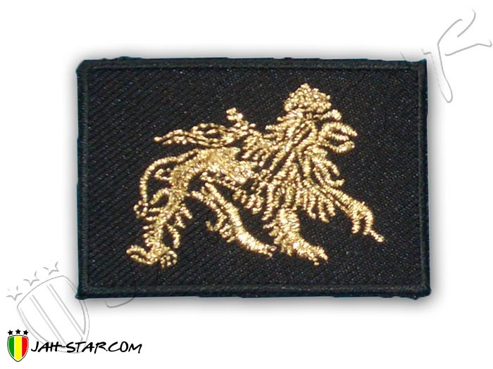 Iron on Patch Rasta Reggae Roots Lion Of Judah Gold