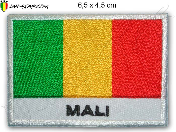 Patch Rasta Reggae Roots Mali Flag Africa African Flag