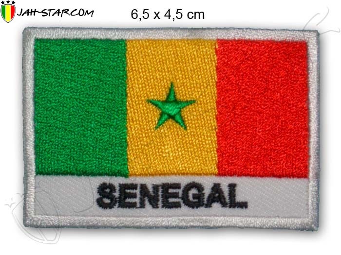 Patch Rasta Reggae Roots Senegal Africa African Flag