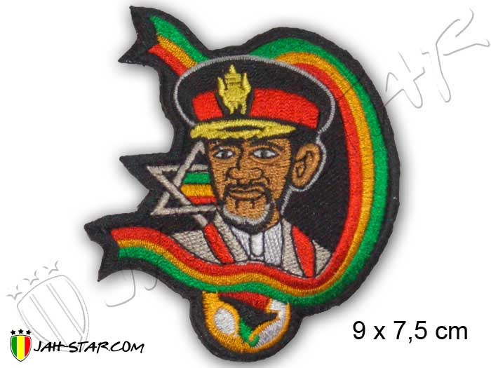 Iron on Patches Rasta Reggae Roots Rastafari Haile Selassie I the First Ethiopia