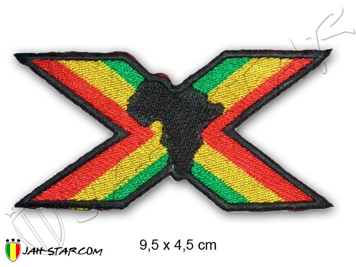 Iron on Patch Rasta Reggae Roots Rastafari Africa Freedom