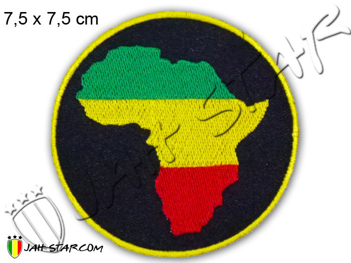 Iron on Patch Rasta Reggae Roots Africa Bob Marley