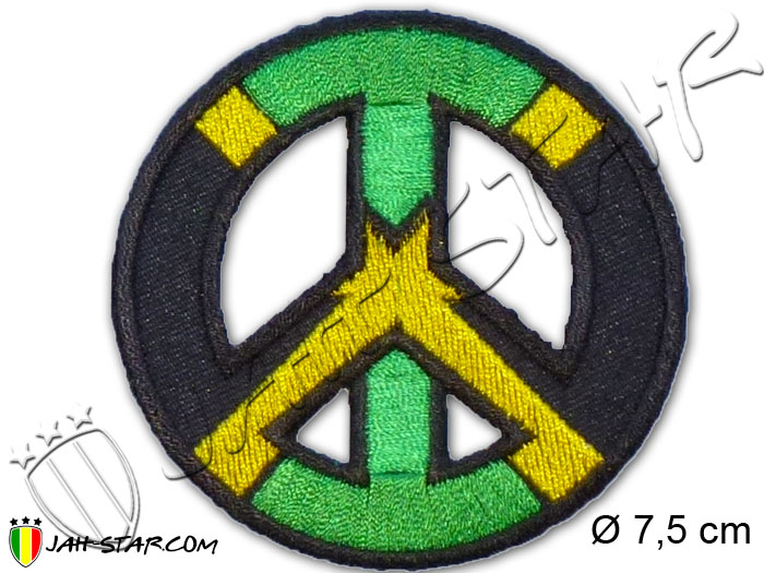 Iron on Patch Rasta Reggae Peace & Love Jamaica