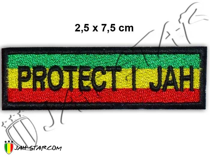 Iron on Patch Rasta Reggae Roots Rastafari Haile Selassie I Protect I Jah
