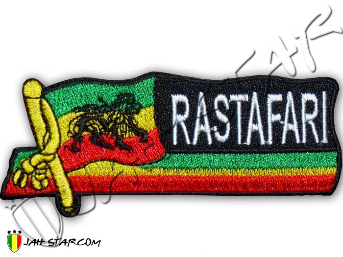 Iron on Patch Rasta Reggae Roots Rastafari Lion Of Judah Ethiopia