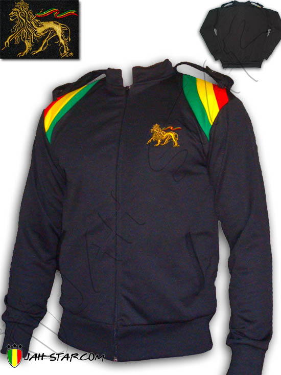 Jacket Rasta Reggae Rastafari Jah Army Jamaica Lion Of Judah Embroidered