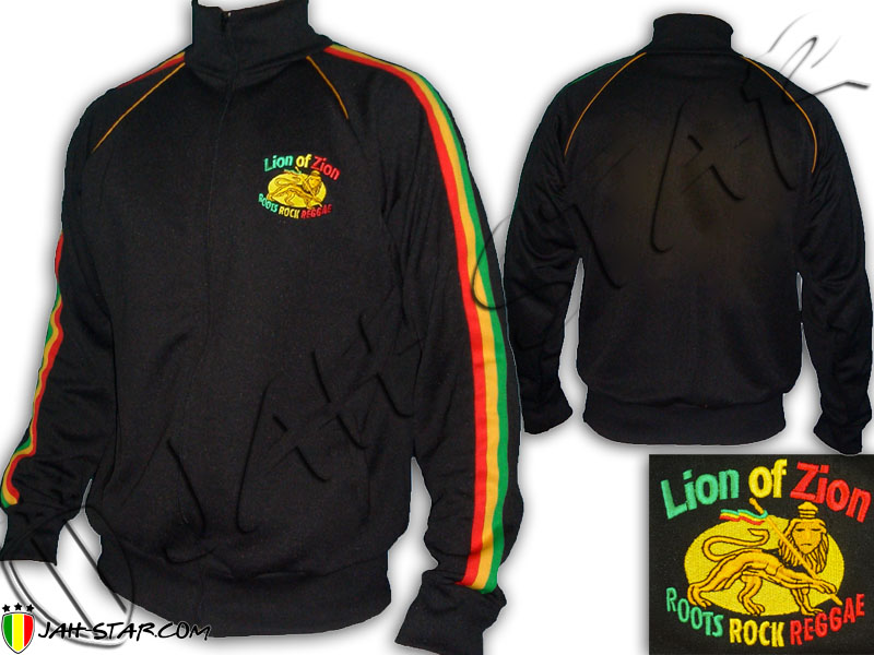 Jacket Jumper Rasta Lion Of Zion Logo embroidery