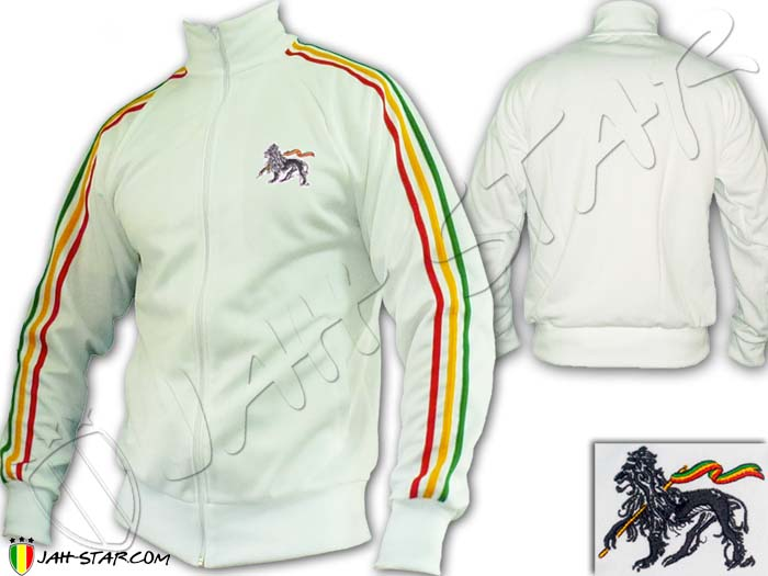 Jacket Rasta Reggae 3 stripes Lion of Judah Logo Embroidered