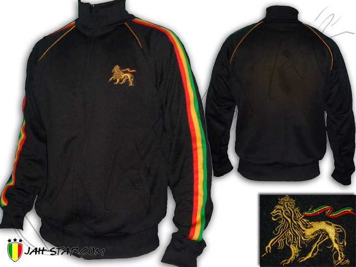 Jacket Rasta Reggae Roots Lion of Judah Embroidered Jah Star Bob Marley