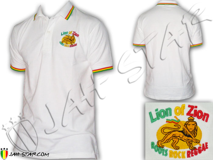 Polo Reggae Rasta Zion Of Lion Embroidered