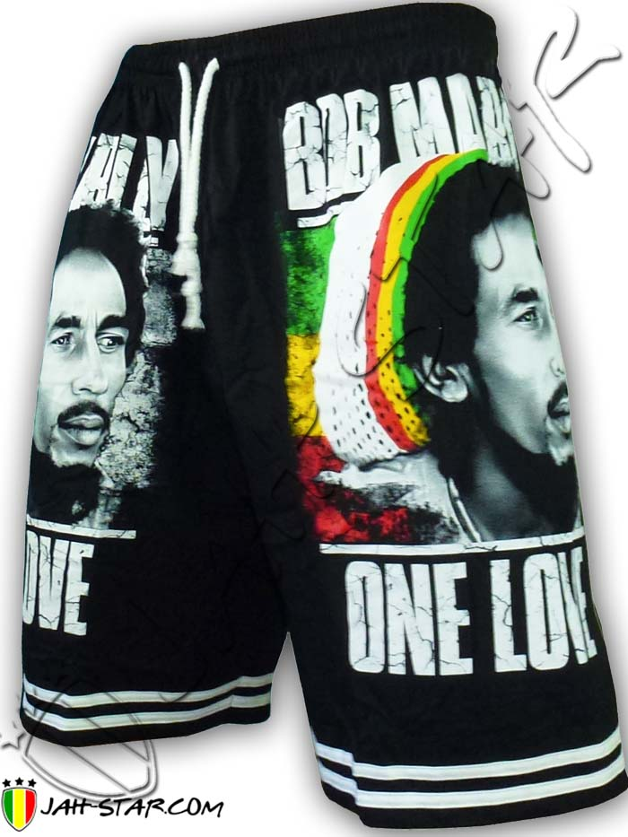 Short Bob Marley One Love JamaicaTaille unique