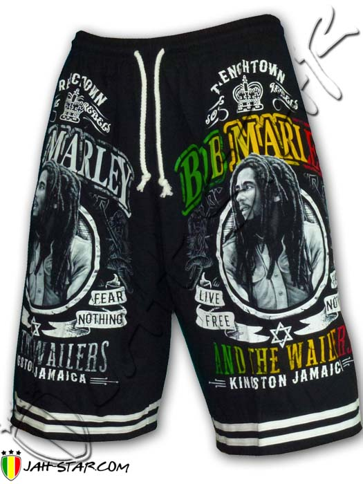 Short Bob Marley Kingston Jamaica Free Size