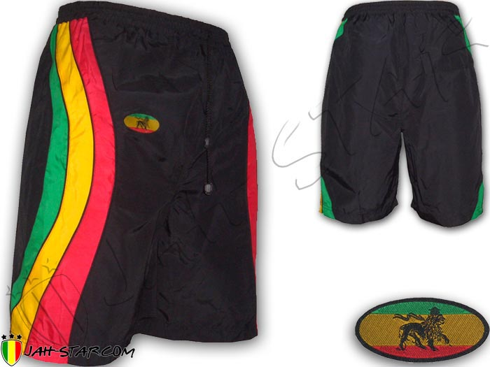 Short Rasta Reggae Bob Marley Roots 3 Stripes Rastafari Lion Of Judah