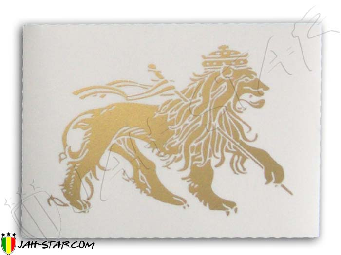 Sticker rasta reggae roots ragga conquering gold lion of judah
