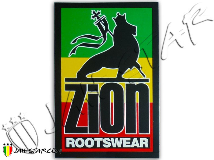 Sticker Rasta Reggae Rootswear Zion Lion Of Judah