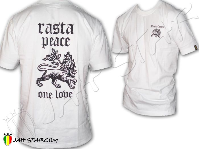 T-Shirt Rasta Reggae Peace & Love One Love Jah Live