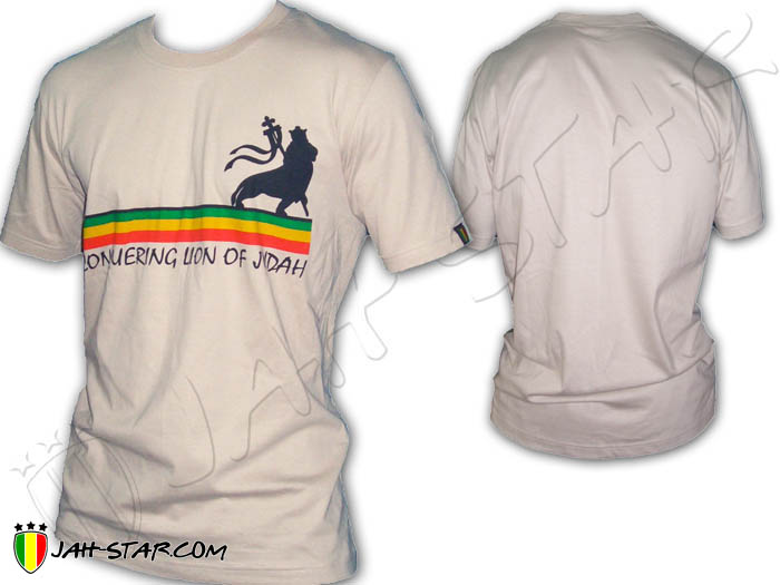T-Shirt Rasta Line Conquering Lion of Judah