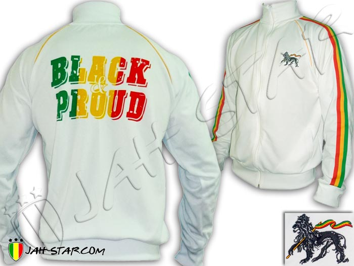 Jacket Rasta Roots Reggae Lion Of Judah Black & Pround Bob Marley