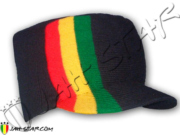 a0ad9395a0 Bonnet Roots Rasta Reggae Ethiopia Jamaica avec visière
