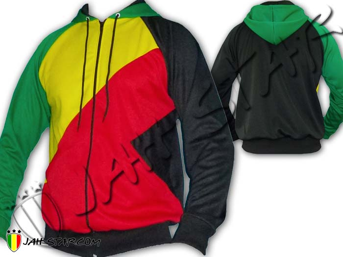 Jacket Hoodie Reggae Rasta Africa 3 color Bob Marley Jah Star Wear