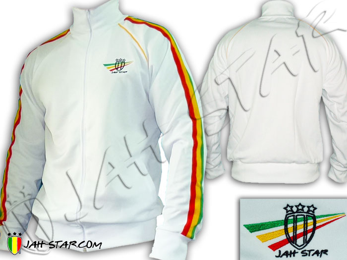 Jacket Rasta Reggae Wear Jah Star Logo Embroidered