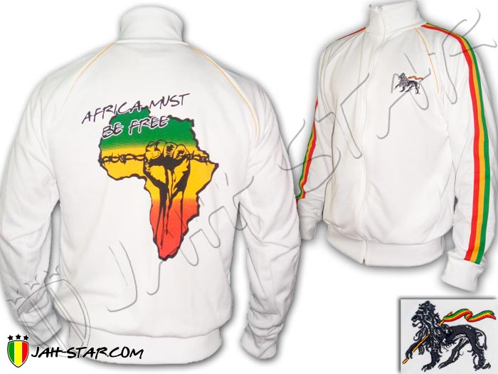 Jacket Rasta Reggae Africa Power Fist Must be Free Freedom