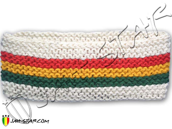 Rasta Headband Reggae Jamaica Roots Ragga Dreadlocks 3 Stripes