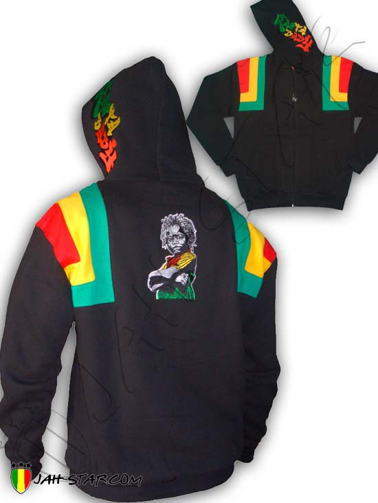 Jacket Jumper Thick Jah Love Reggae Rastafari Rasta Baby Embroidered