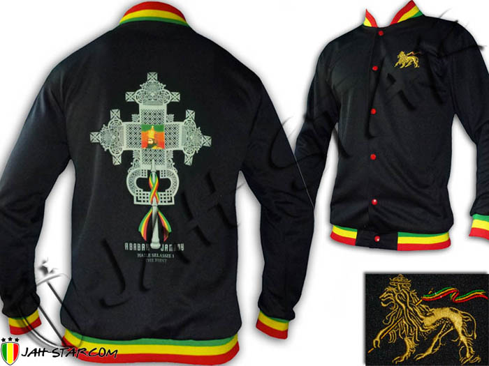 Veste Rasta Orthodox Cross Haile Selassie I the First Col Rasta