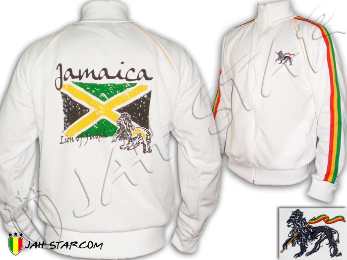 Jacket Rasta Reggae Rock Lion Jamaica Flag