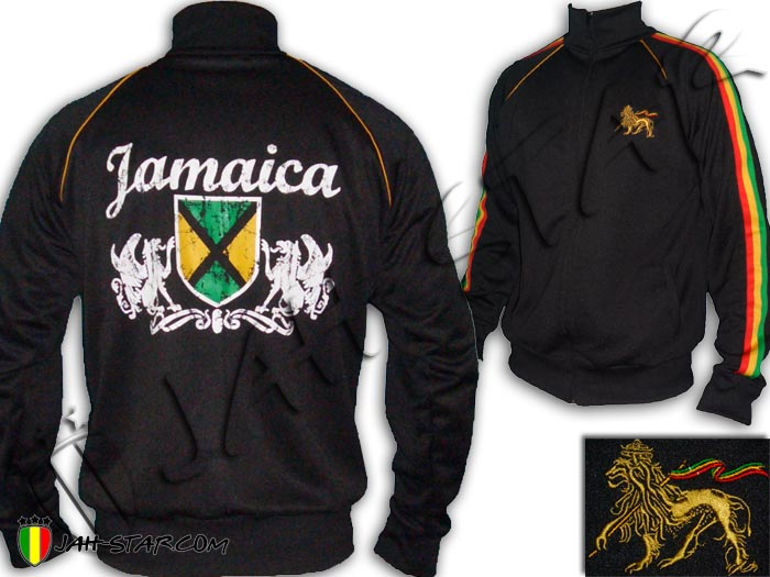 Détails sur Veste Jacket Chaqueta Jacke Rasta Reggae Jamaica Jamaique Logo Jah Star