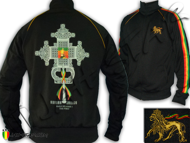 Jacket Rasta Reggae Haile Selassie I the First Orthodox Cross