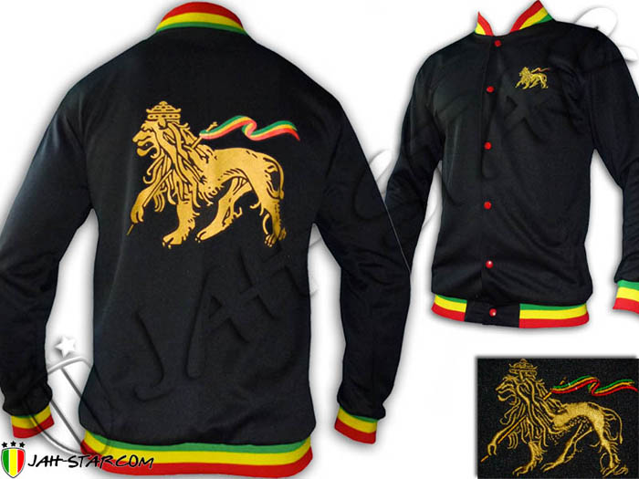 Jacket Rasta Reggae Rock Conquering Lion of Judah Rasta Neck